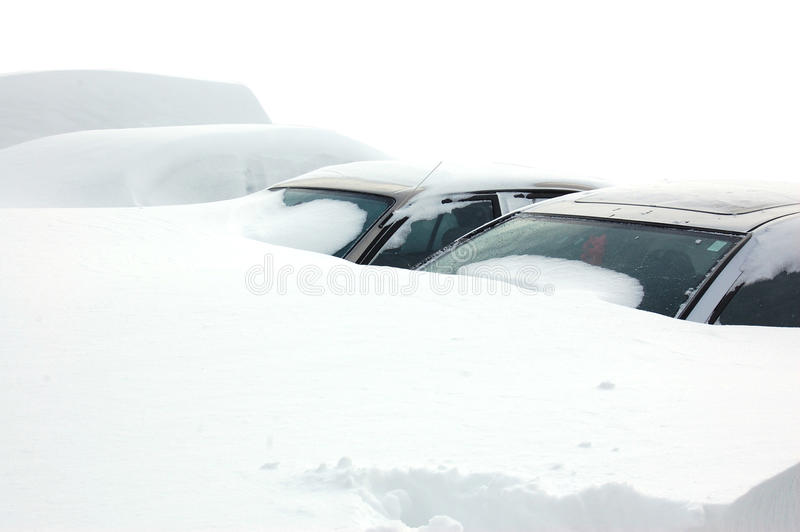 Download Cars covered in snow stock image. Image of need, couple - 18368875