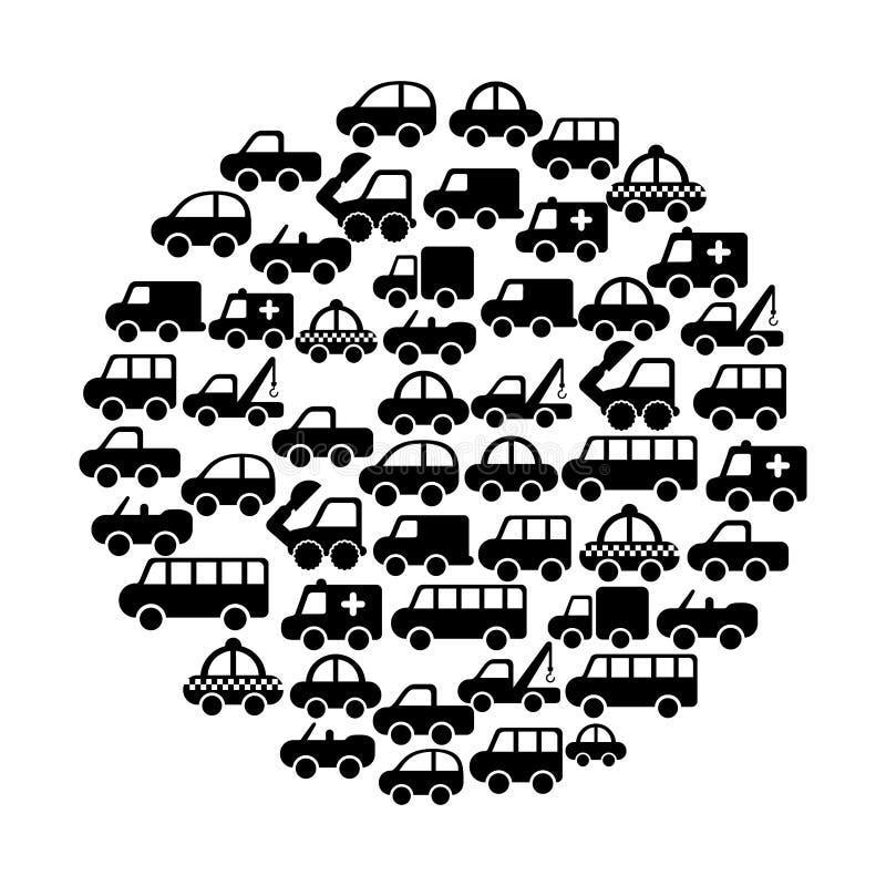 Cars design. Over white background vector illustration royalty free illustration