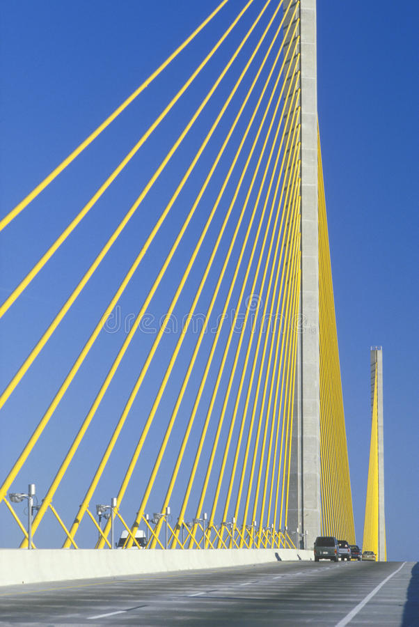 Free Cars Driving On Sunshine Skyway Bridge Stock Photography - 23148392