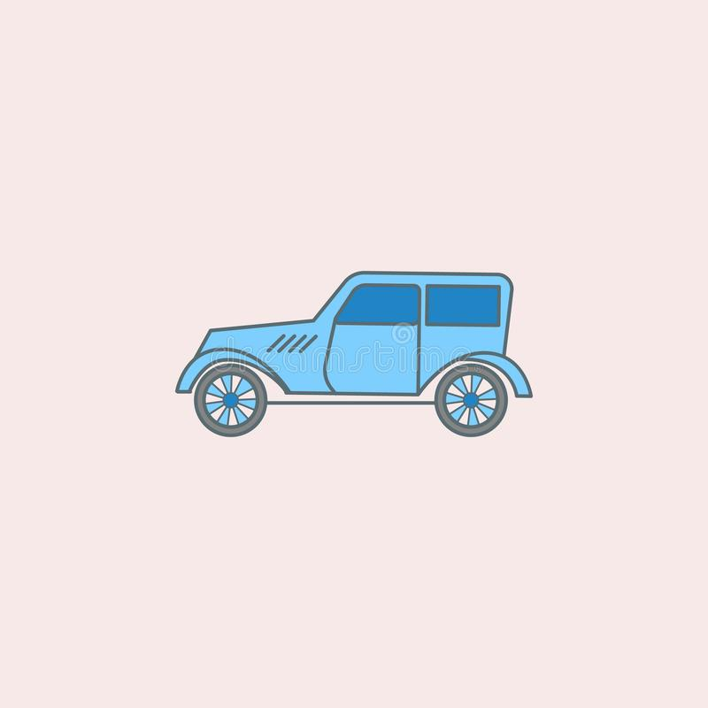 Cars of the forties field outline icon. Element of generation icon for mobile concept and web apps. Field outline cars of the fort. Ies icon can be used for web vector illustration