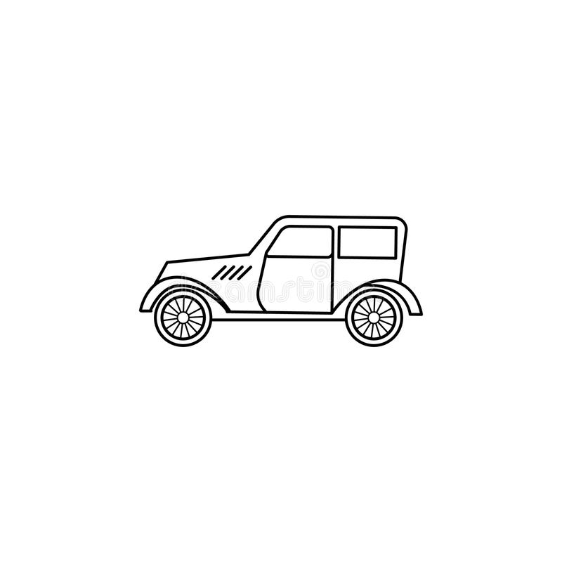 Cars of the forties icon. Element of generation icon for mobile concept and web apps. Thin line icon for website design and devel. Opment, app development vector illustration