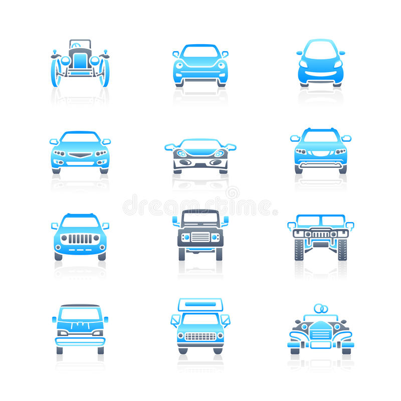 Download Cars Front View Icons | Marine Series Stock Photography - Image: 16621442