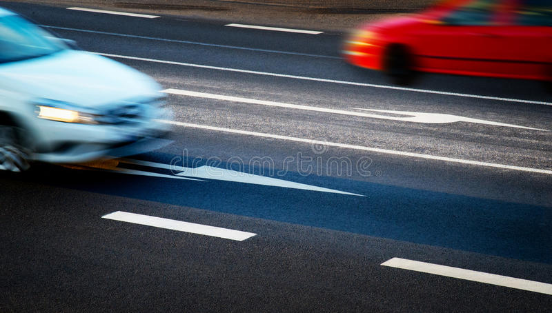 Cars going along the crossroads royalty free stock photography
