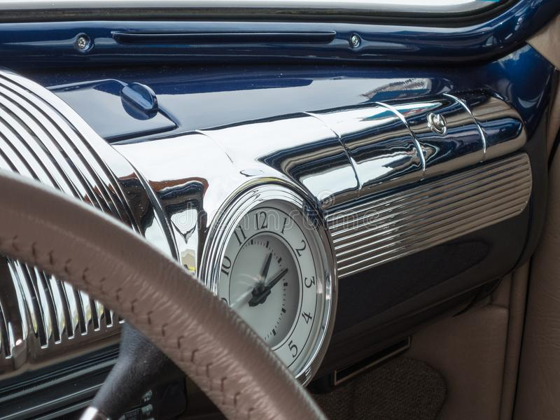 When cars had chrome stock photo