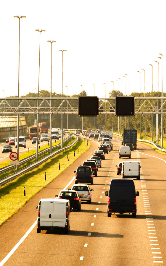 Cars On The Highway Royalty Free Stock Image