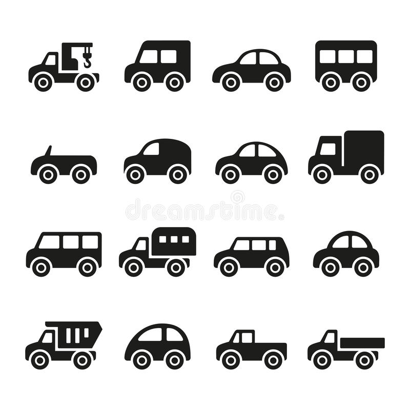 Cars icon set. This is file of EPS8 format vector illustration