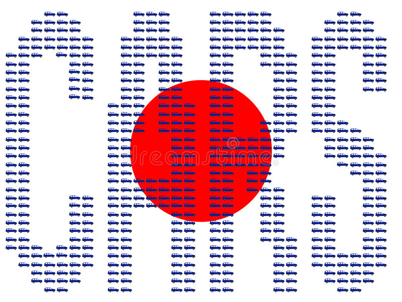 Download Cars and japanese flag stock vector. Image of transport - 2182750