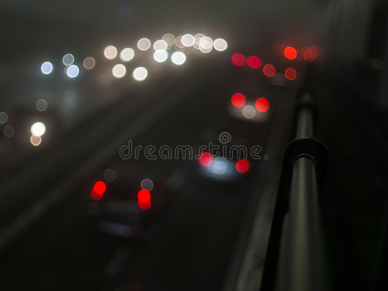 Cars lights. On the highway stock images