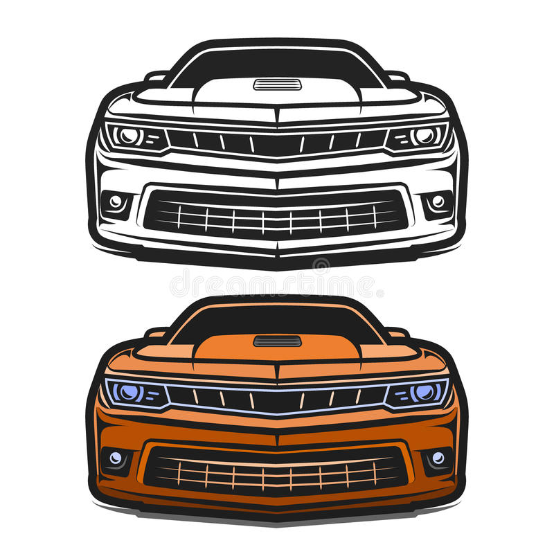 Cars muscle comic vector set vector illustration