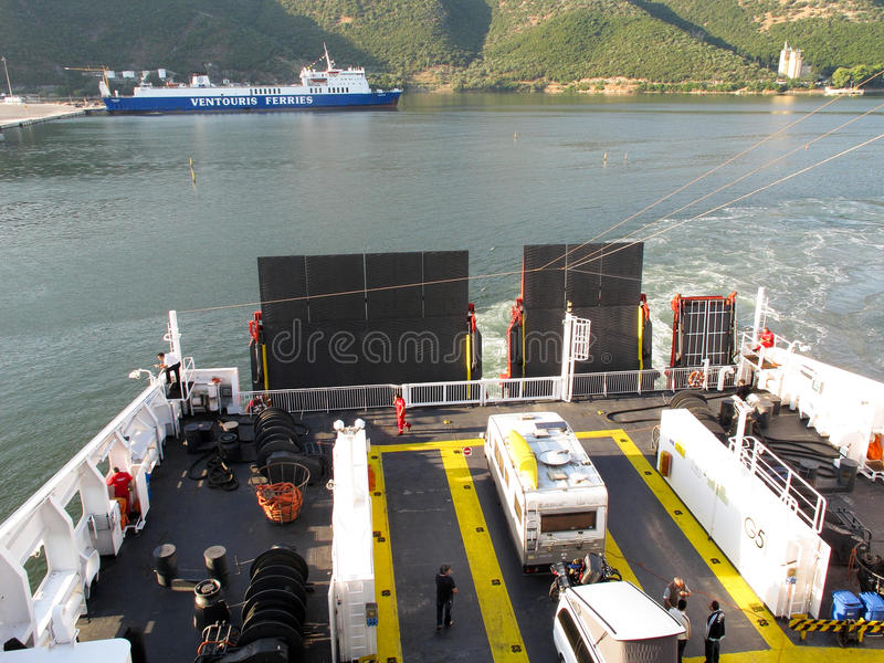 Download Cars Parked On A Ferry Editorial Stock Image - Image: 24140804