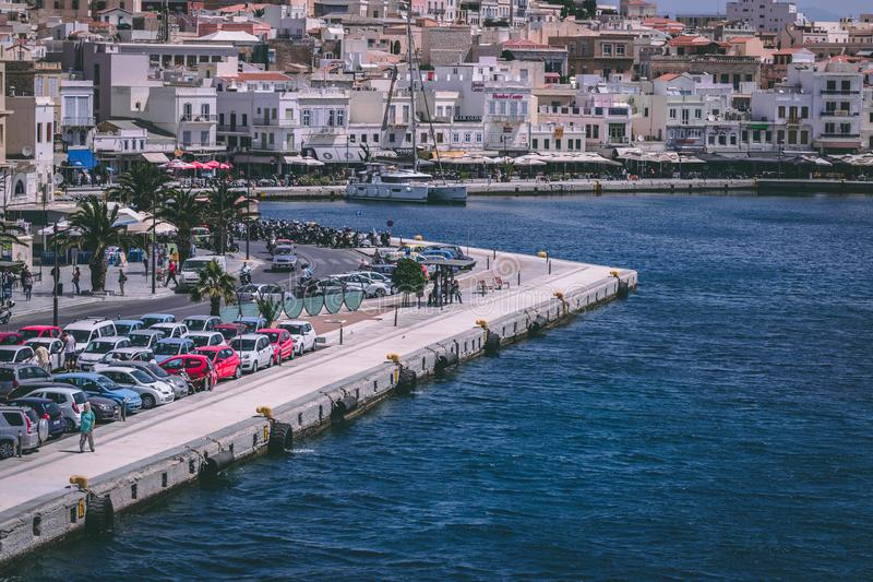 Cars Parked Near Body of Water royalty free stock photography