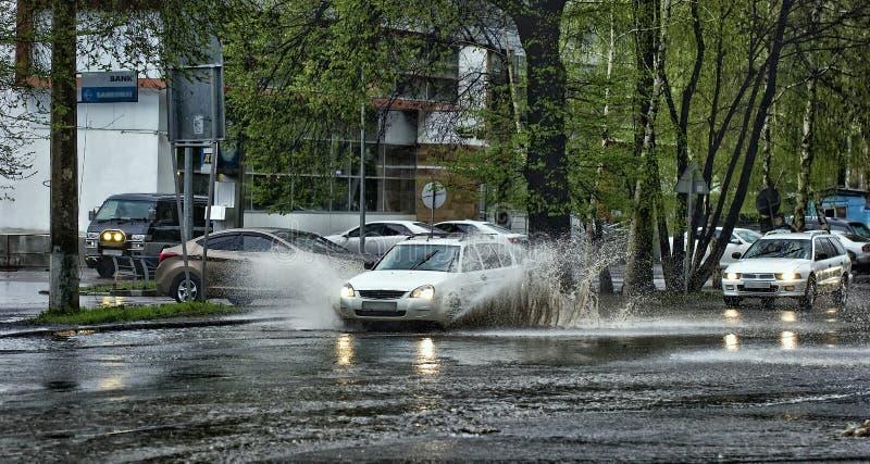 Cars and rain. royalty free stock photo