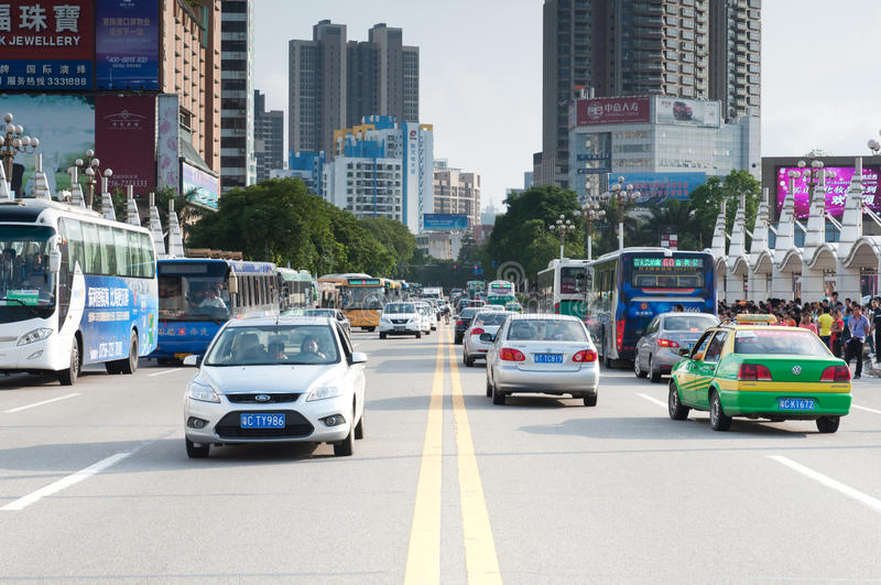 Download Cars in the road editorial image. Image of zhuhai, yellow - 24575965