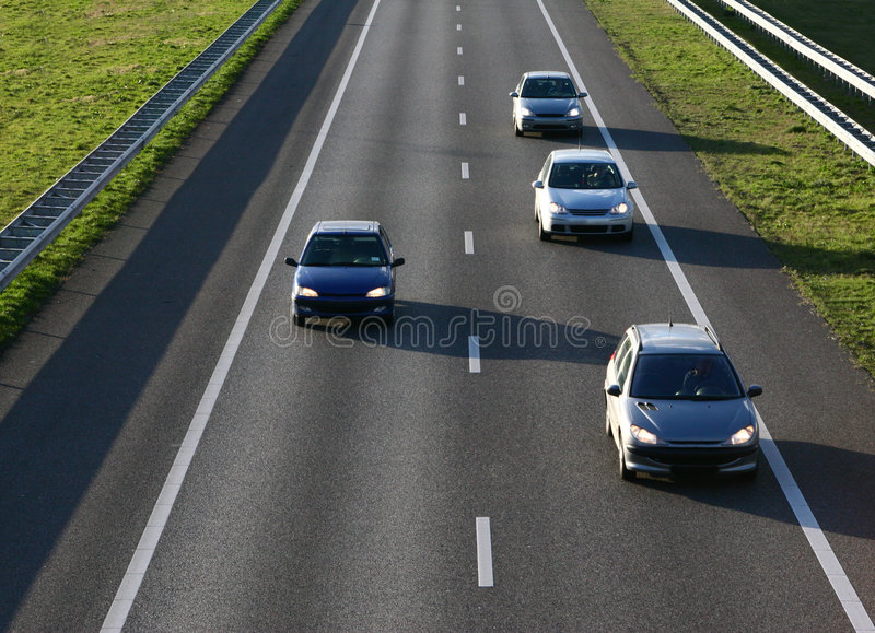 Cars on the Road stock photos