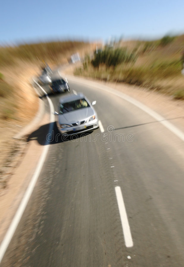 Cars on the road royalty free stock images