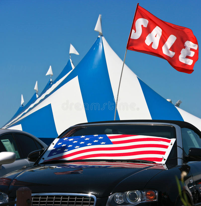 Cars sale stock images