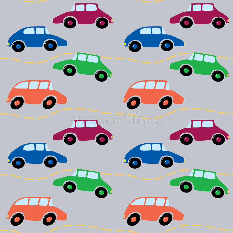 Download Cars Seamless stock vector. Image of cute, city, color - 25434137