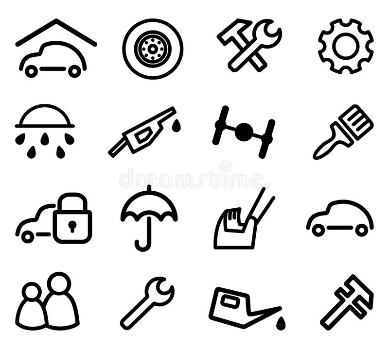 Cars And Spare Parts Royalty Free Stock Photo