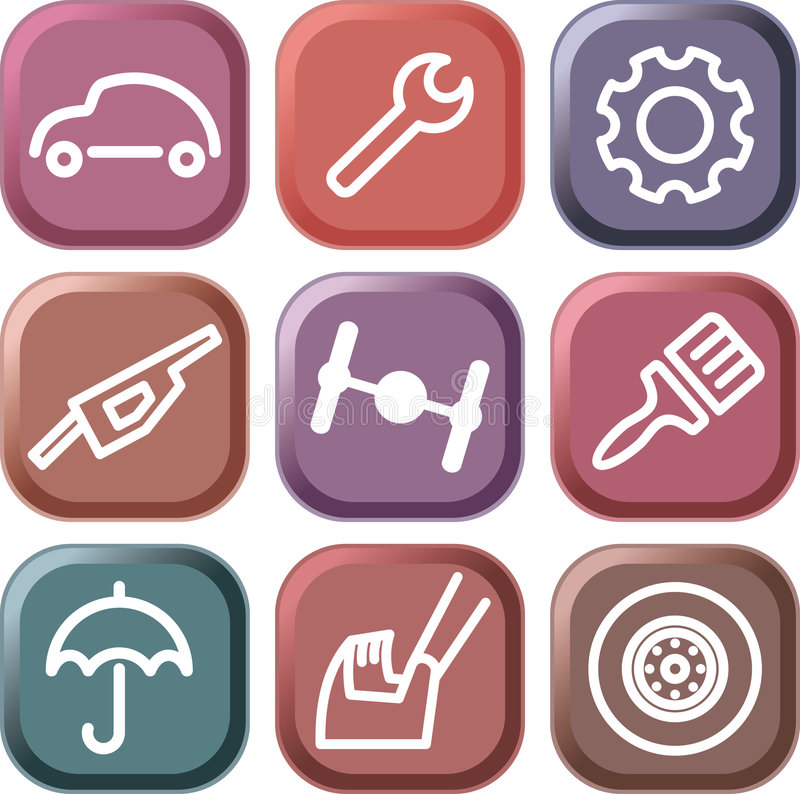 Download Cars and spare parts stock vector. Illustration of image - 8674733