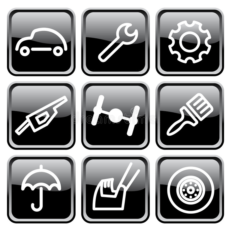 Cars And Spare Parts Royalty Free Stock Photography