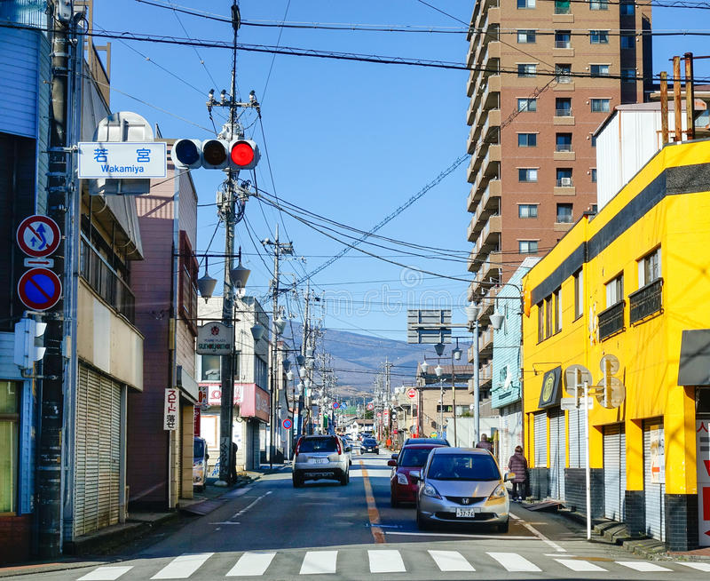 Cars on the street in Nagoya, Japan. Nagoya, capital of Japan's Aichi Prefecture, is a modern manufacturing and shipping hub in central Honshu stock photos