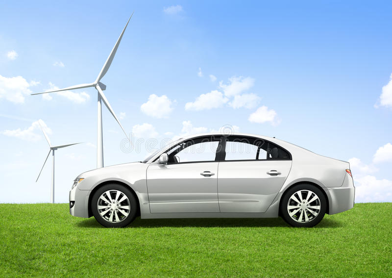 Cars of Tomorrow With Energy-Saving Technology.  stock photography
