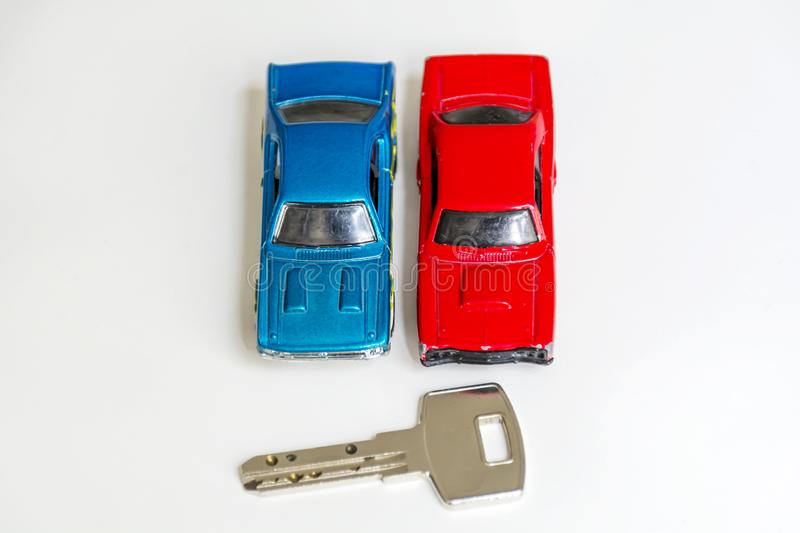 Cars Toy and Key royalty free stock photos