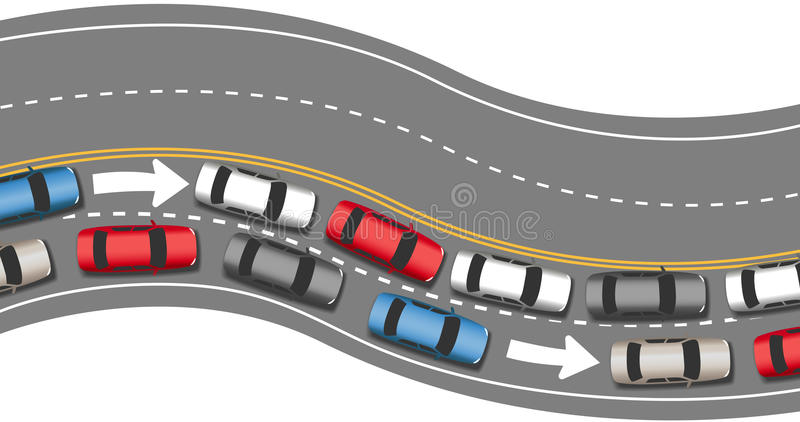 Download Cars Travel Traffic Go One Direction Stock Vector - Illustration: 30608352