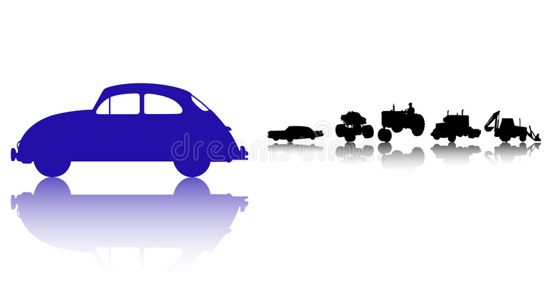 Download Cars And Trucks Silhouette Set Stock Vector - Image: 8676140