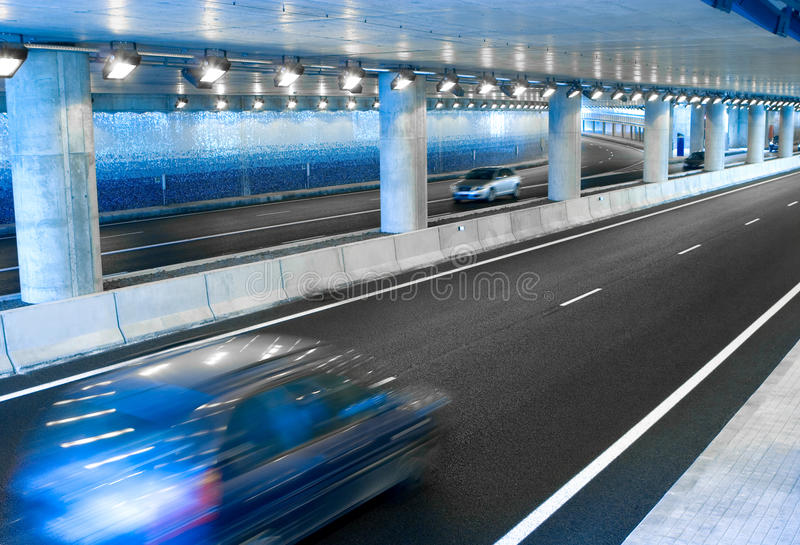Download Cars in a Tunnel stock image. Image of drive, speeding - 10286599