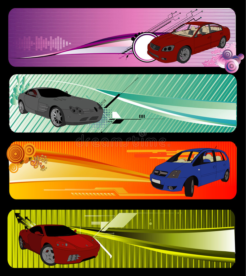 Cars vector composition vector illustration
