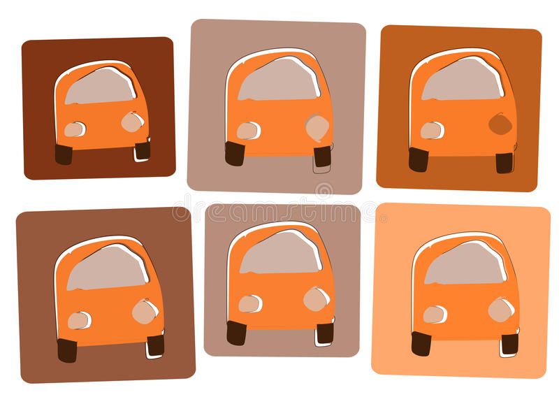 cars2 pomarańcze obrazy royalty free