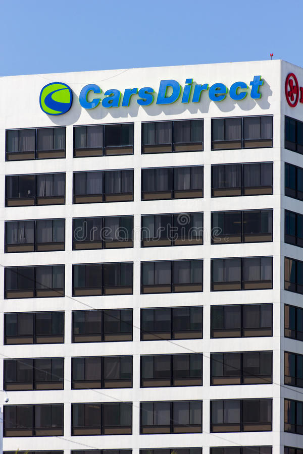 CarsDirect Headquarters and Logo. EL SEGUNDO, CA/USA - MARCH 7, 2015: CarsDirect headquarters and logo. CarsDirect is an American online automotive research stock images