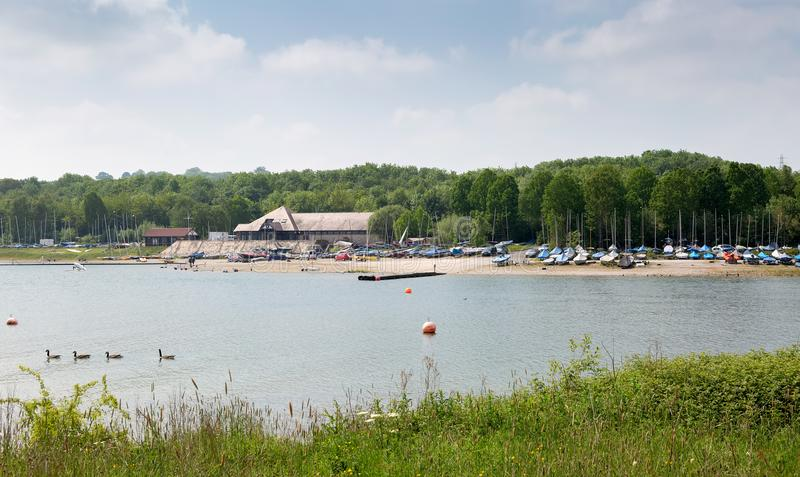 Carsington Water, a popular tourist destination. For walking and boating royalty free stock image