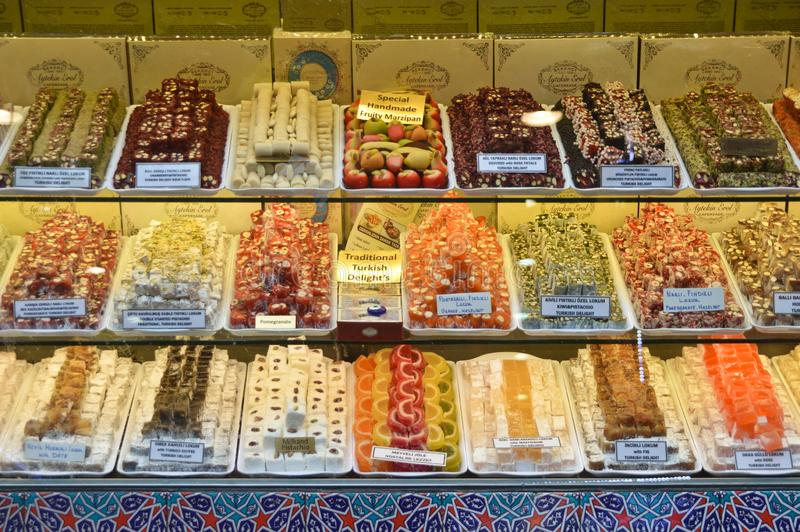 Carsisi de misir d'Istanbul et variétés de plaisir turc image stock