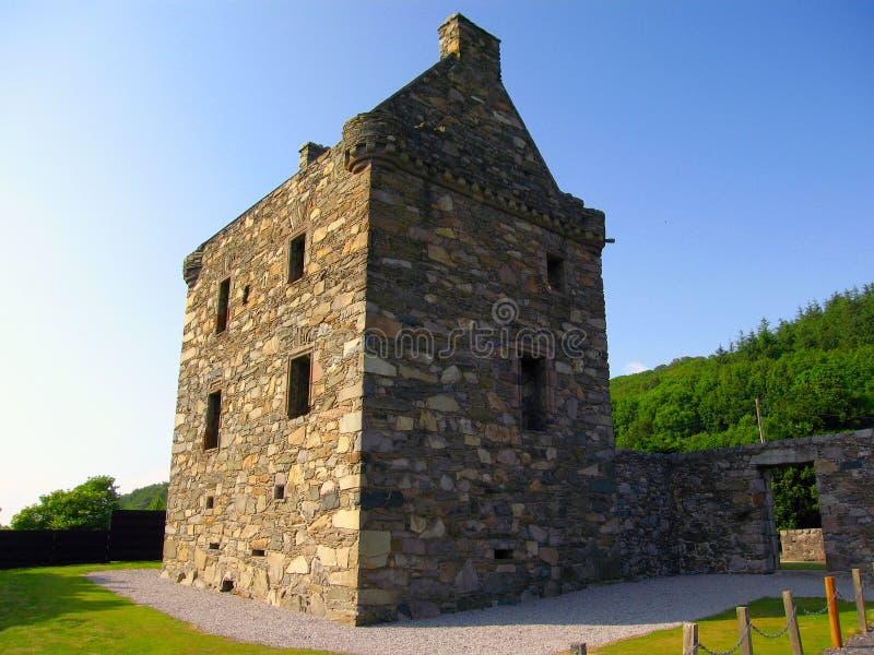 Carsluith kasztel, Wigtown zatoka, Dumfries i Galloway, Szkocja obrazy royalty free