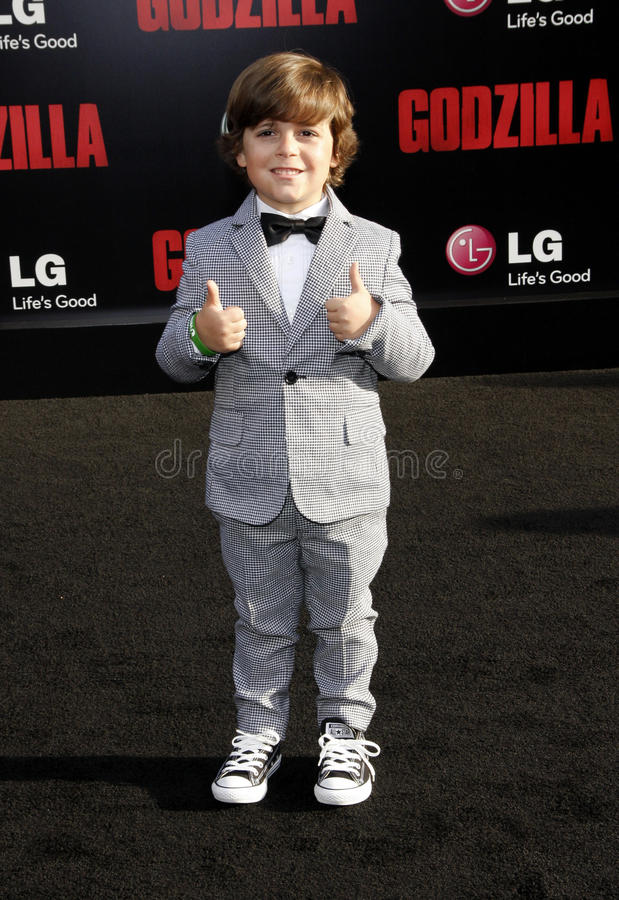 Carson Bolde. At the Los Angeles premiere of Godzilla held at the Dolby Theatre in Los Angeles on May 8, 2014 in Los Angeles, California stock photos