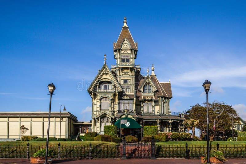 Carson Mansion royalty-vrije stock foto's