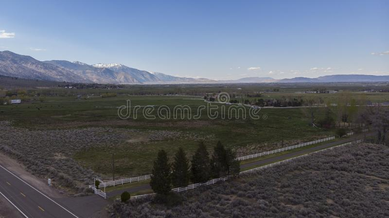 Carson Valley Farms photographie stock