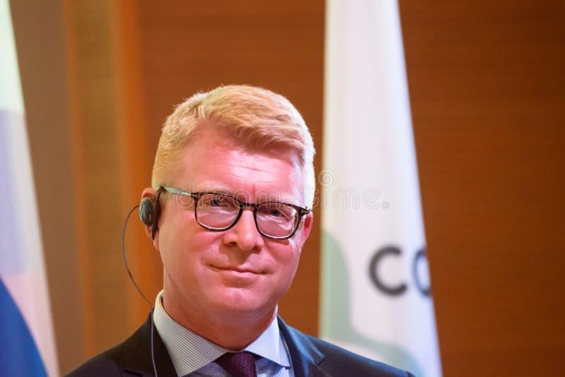 Carsten Gronbech-Jansen, secretaria de estado para casos europeus de Dinamarca foto de stock