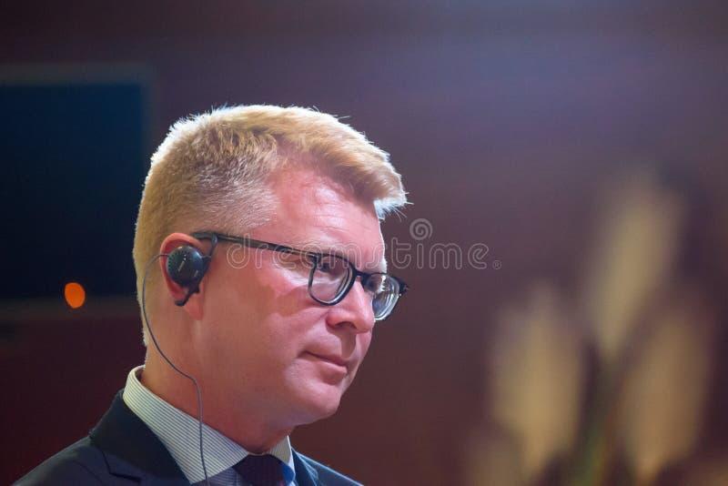 Carsten Gronbech-Jansen, secretaria de estado para casos europeus de Dinamarca foto de stock royalty free