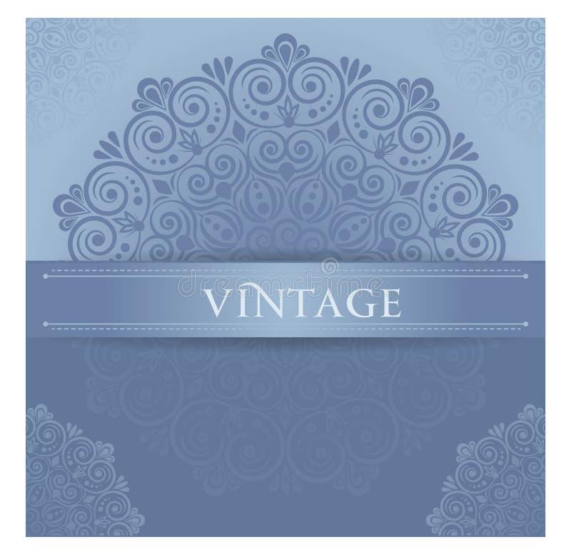 Cartão à moda do vintage no estilo retro foto de stock