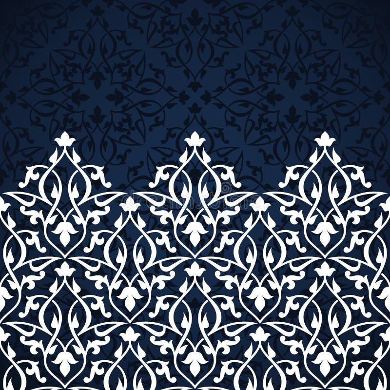 Cartão árabe do convite ilustração stock