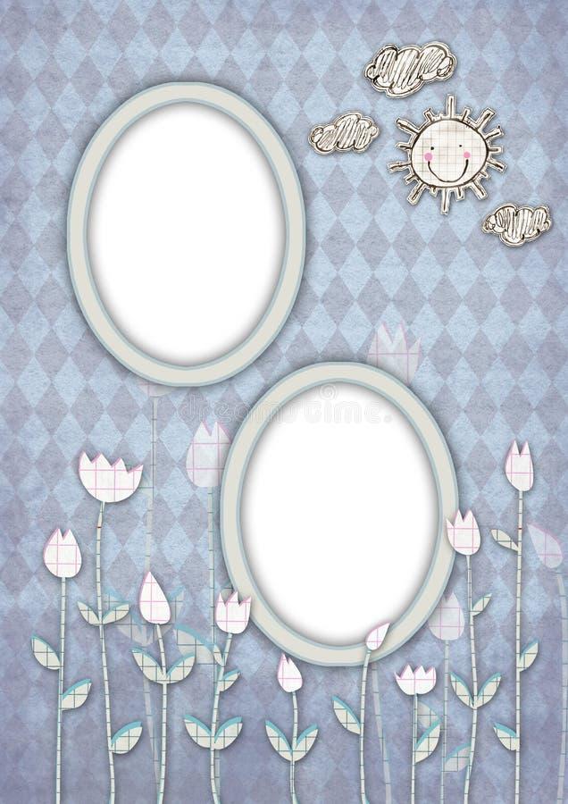 Cartão 03 dos miúdos ilustração stock
