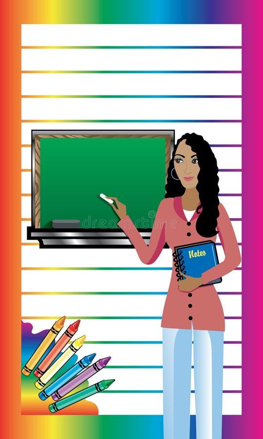 Cartão 1 do professor ilustração do vetor