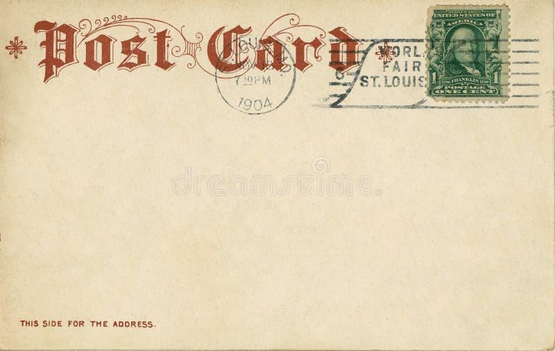 Cartão 1904 do vintage fotos de stock royalty free