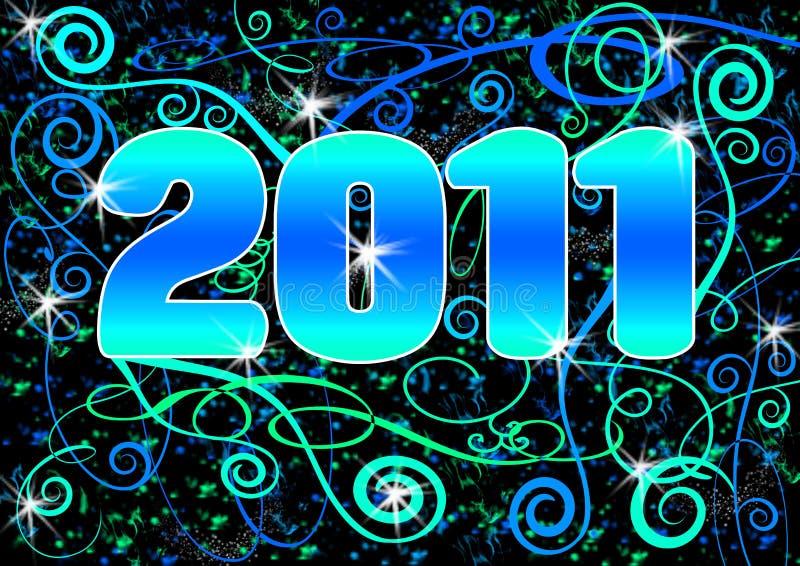 Cartão 2011 espiral de Grunge ilustração royalty free