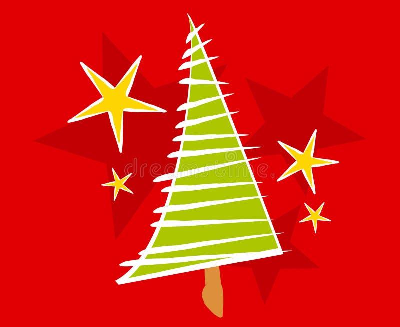 Cartão abstrato da árvore de Natal ilustração royalty free