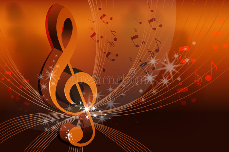 Cartão abstrato da música ilustração royalty free