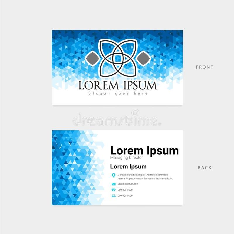 Cartão abstrato do molde do polígono ilustração stock